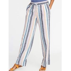 Old Navy Palazzo Pants XL Striped Pockets